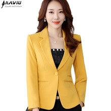 Blazer Smooth-Jacket Formal-Wear Heavy-Tops Straight Coat Business Style Office Lady