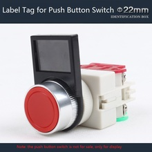 1 Name Label for 22mm Flush Button Switch Plastic Label Tag for Push Button Switch