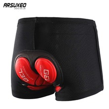 ARSUXEO Men Women Cycling Underwear Bicycle Mountain MTB Cycling Shorts 5D Gel Padded Sports Compression Tights Bike shorts 001B arsuxeo men s outdoor sports cycling shorts downhill mtb shorts protective padded shorts for skiing snowboarding