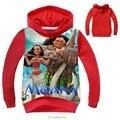 New Spring Children T-shirts Boys Hoodies Casual Cotton Sweatshirts Kids Boy Tops Cartoon Moana Print Hoodies Girls Clothes coat