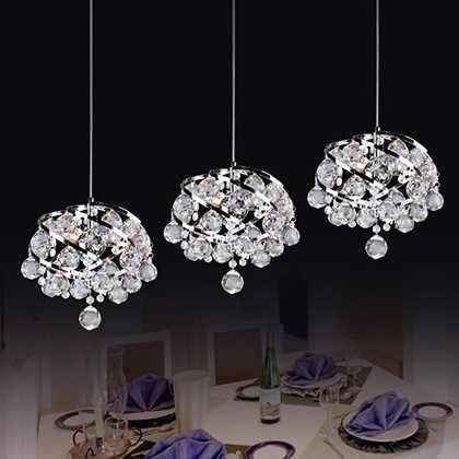 Современный минималистский 1/3 головок хрустальные люстры светильники светодиодные панели, балкон проходах K9 кристалл кулон лампы N1404