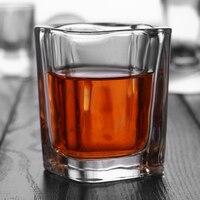 6 STÜCKE MINI Kristall Tasse Erschossen Glas Tasse Kreative Hochstimmung Weißwein Glas Home Party Trinken Charming Dicken Boden tasse