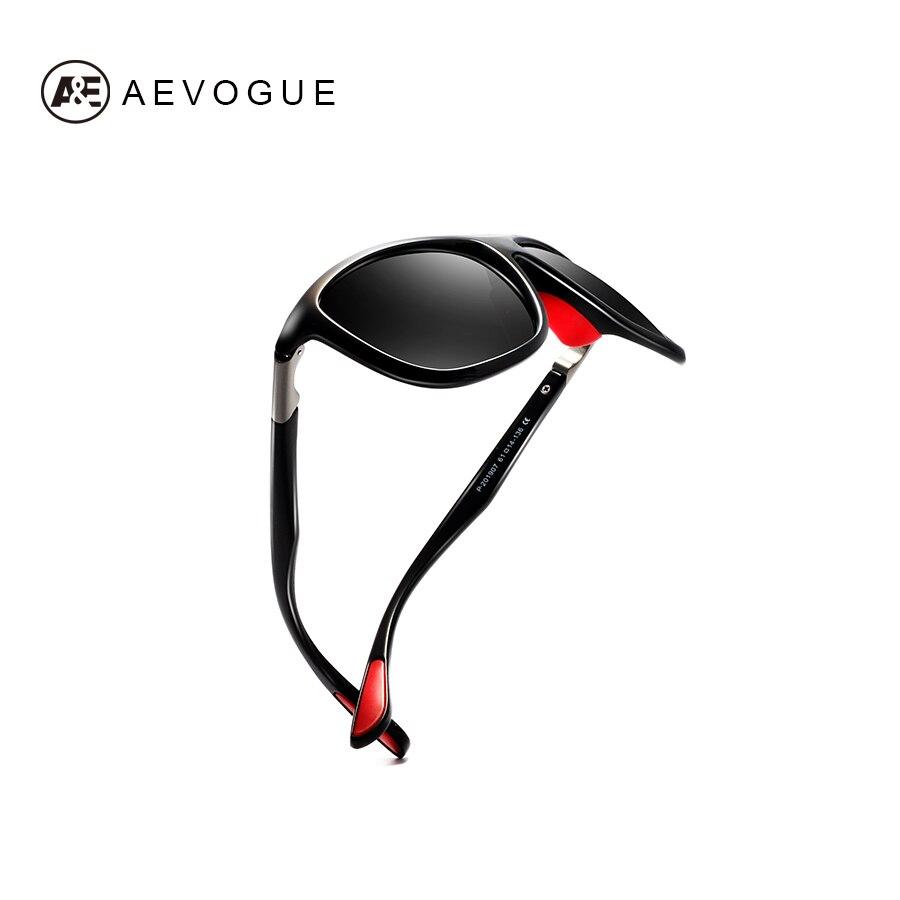 AEVOGUE Polarisierte Sonnenbrille Männer Mode Stick Shades Übergroßen Marke Designer Brille Unisex Gafas De Sol Männlich Rot UV400 AE0611