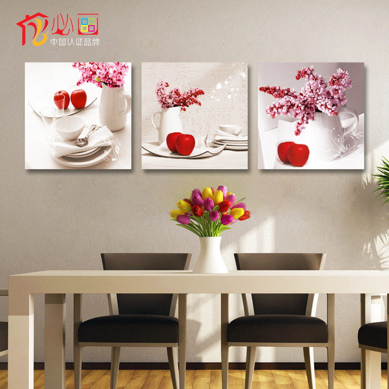 aliexpresscom buy 3 piece canvas wall art painting fruit modern - Office Wall Decor