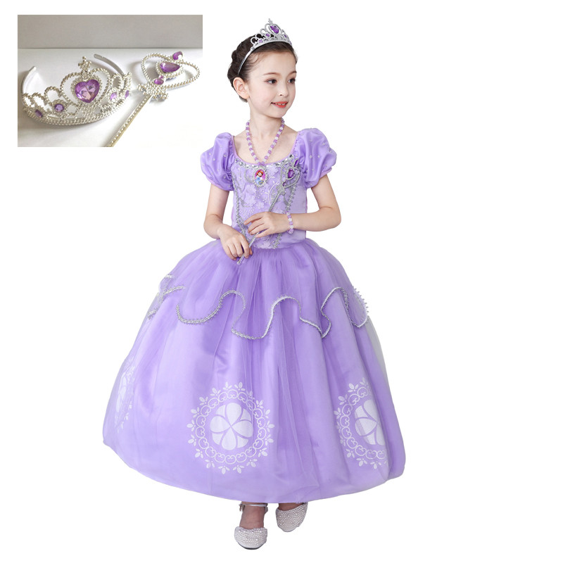Sofia Princess Dress Kids Cosplay Costumes Girls New Arrival: Girls Princess Dresses Sofia Cosplay Costume Kids