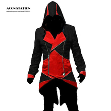 Halloween Party Costumes For Women and Men Anime Cosplay Costumes Assassin's Creed 3 III Conner Kenway Hoodie Coat Jacket