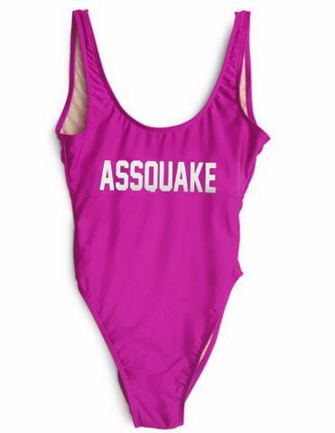 High-Cut Swimwear ASSQUAKE Bathing Suit One Piece Playsuit Women Jumper Beachwear Clothing Monokinis Customzie