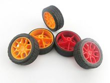 40PCS    2*30mm rubber wheels, small wheel toy car wheels DIY popular science to produce material tires