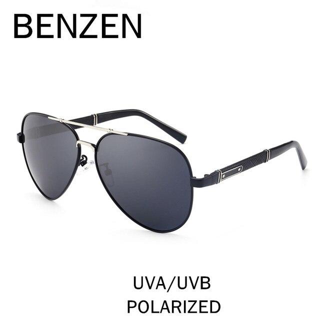 BENZEN Frame Da Liga de Aviação Do Vintage Óculos De Sol Dos Homens  Polarizados Condução Motorista c51c05b904