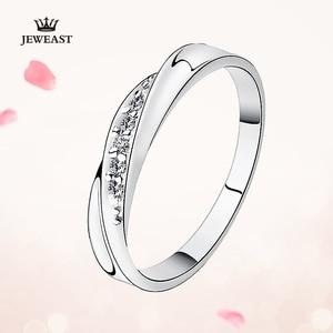 Image 2 - Pt950 ゴールド純金リングリアル Pt950 純金指輪グッド美しい高級流行の古典的なパーティーファインジュエリーホット販売新 2020