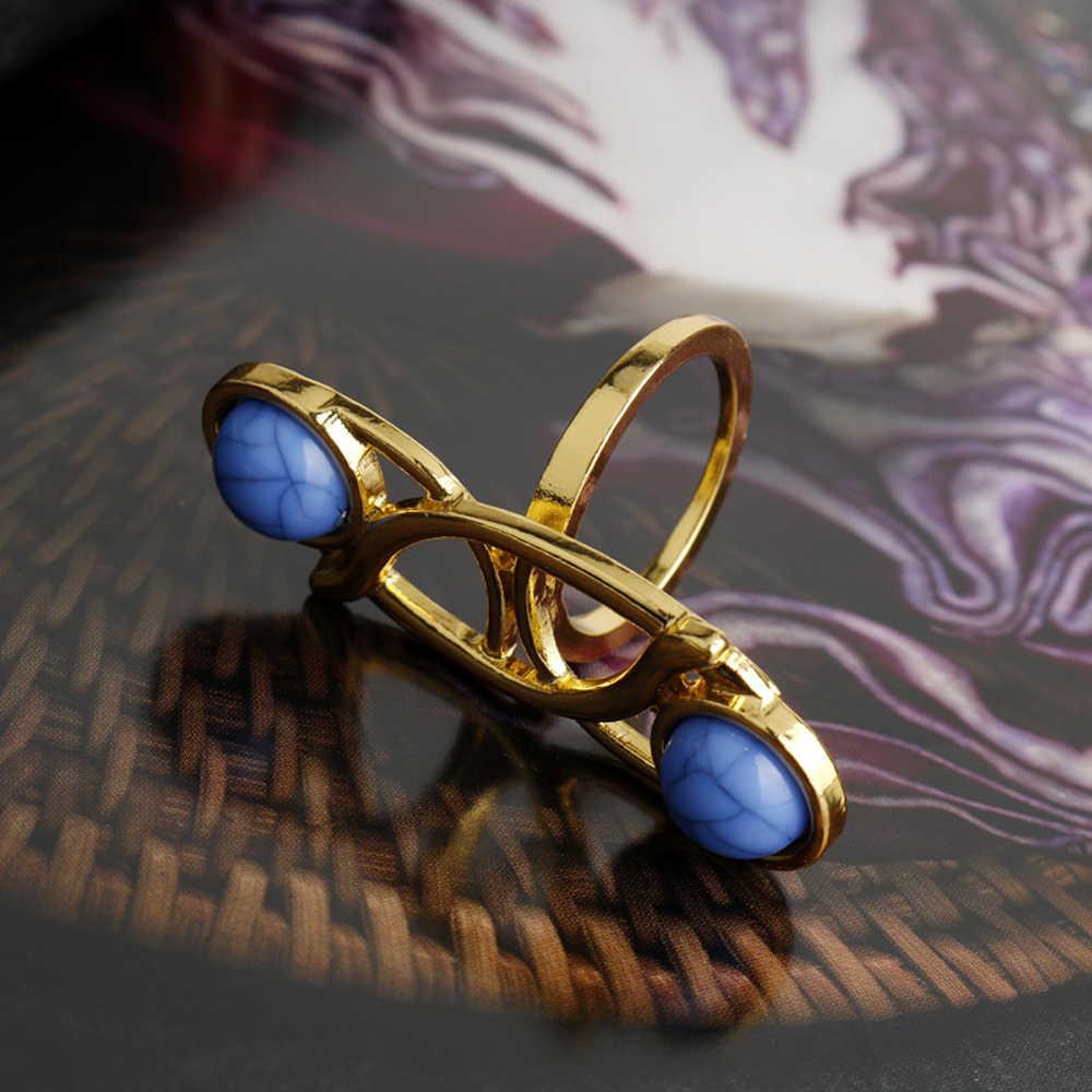 Gwiezdne wojny ostatni jedi Leia pierścionek księżniczki Cosplay klasyczny pierścionek dla kobiet biżuteria filmowa z pudełkiem Drop Shipping