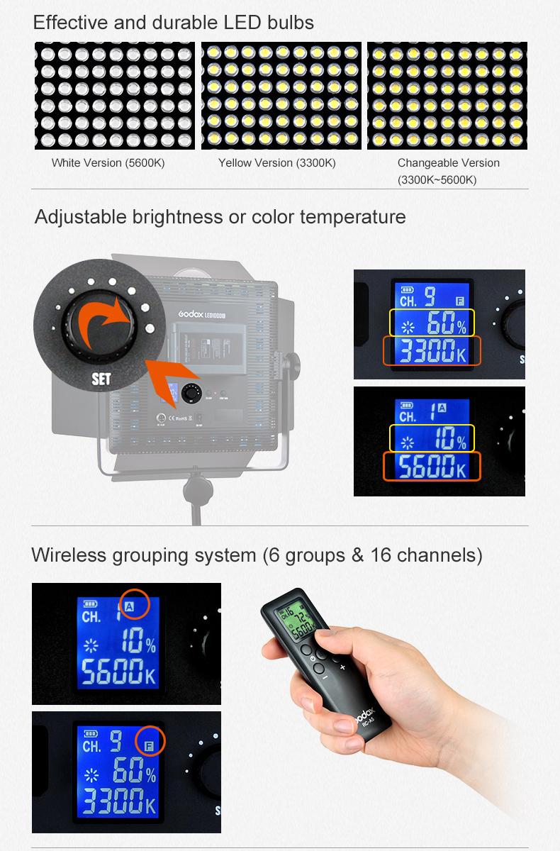 Godox LED500 LED Video Light (3)