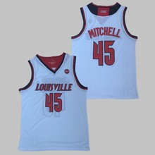 Throwback Men's Donovan Mitchell #45 Louisville Cardinals College basketball jersey Stitched Size S-XXL Free Shipping