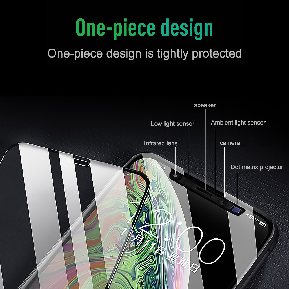 9D Phone Screen Protector Tempered Glass Film For iphone X 7 6 8 6S plus XS XR XS Max Full Curved Screen Protector Front Film in Phone Screen Protectors from Cellphones Telecommunications