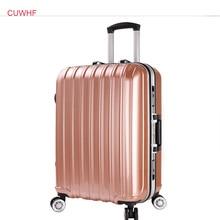 CUWHF Универсальный колеса таможенного кодовый замок 20 дюйм(ов) тележки случае Багаж прокатки чемодан на колесах интернат сумка тележка