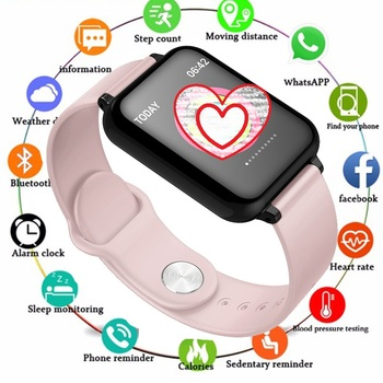 Women Smart watches Waterproof Sports For Iphone phone Smartwatch Heart Rate Monitor Blood Pressure Functions For kid Fitness
