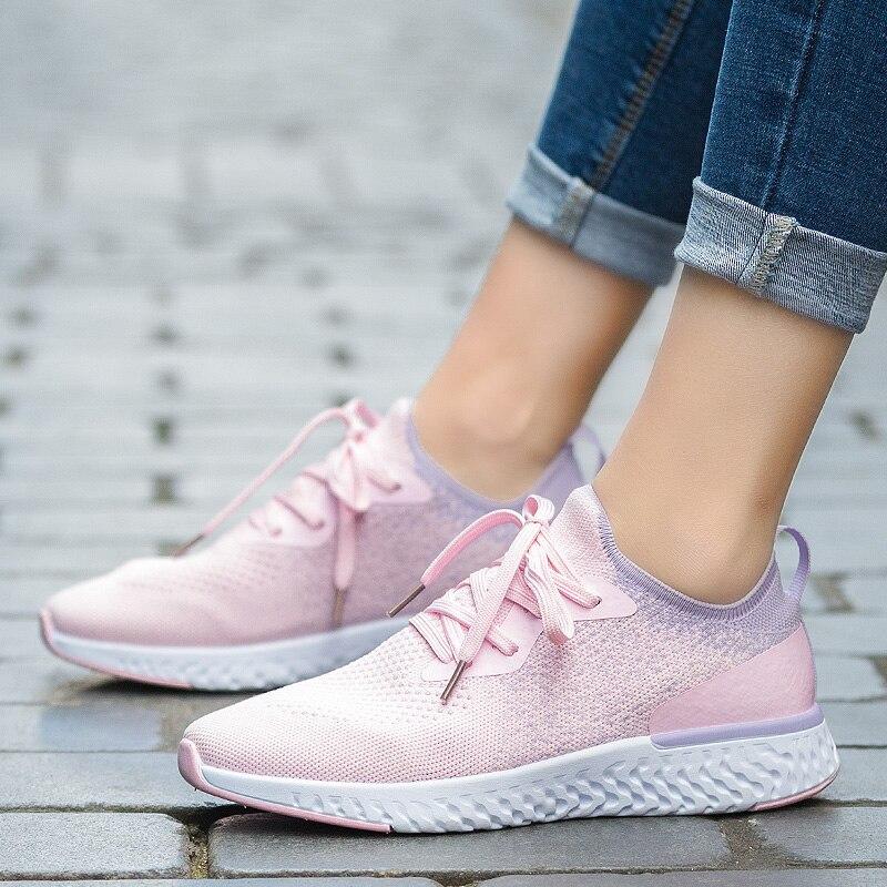 4039698a Nuevo 2019 de primavera y verano de las mujeres zapatillas de deporte  transpirables de alta elasticidad. Si tu comprará para ...