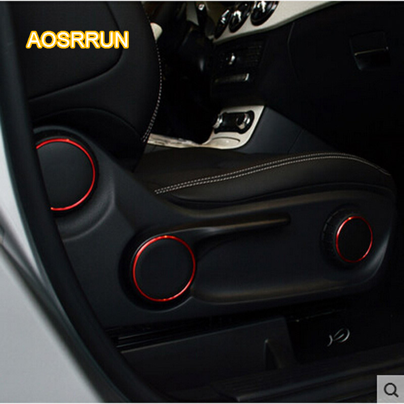 AOSRRUN Seat adjustment knob to decorate interior adapted to stick 3 PCS Car Accessori For Mercedes Benz A Class W176 B Class