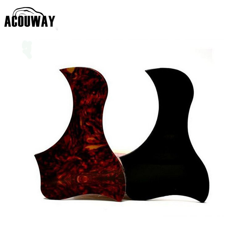 Acouway (2PCS) 40 41  inch Acoustic Guitar Scratch Plate Pickguard Pick Guard Sticker R64mm self adhesive red color