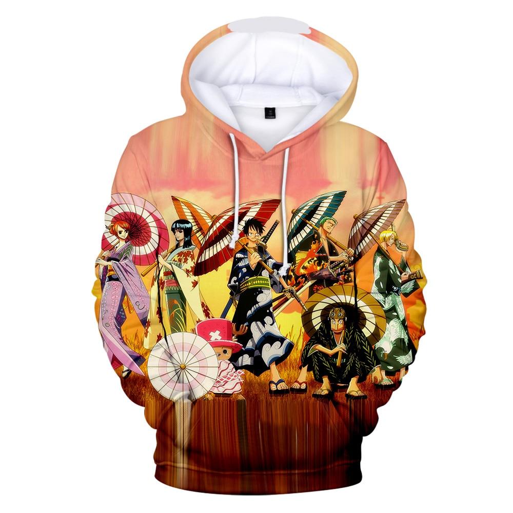 Image 2 - One piece Hoodies Luffy hot anime 3D Men's Sweatshirt 2019 Autumn Winter New Tops Men/Women Hooded High Quality Man Hoodies-in Hoodies & Sweatshirts from Men's Clothing