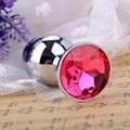 Small Size Mini Butt Anal Plug, Red Wine Cup Stainless Steel Anal Sex Toys Crystal Rhinestone Sex Products