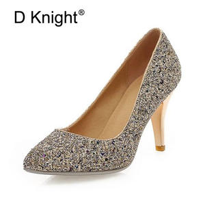 c7098a189329 D Knight Thin Heel Pumps 2018 High Heels Party For Woman