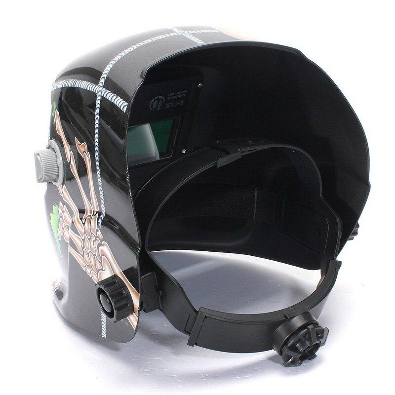 Tools : Solar Automatic Welding Helmet Welding Head-Mounted Goggles Light Filter Welding Cap Protective Helmet Flat Flip Mask Cap