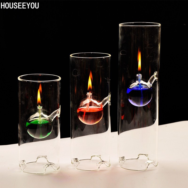 Home Decor Candle Holders And Accessories: Creative Candlestick Transparent Glass Candle Holders Oil