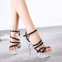 2016 Summer Style New Women's High Heels Fashion Shoes Crystal Stiletto Sandals Gold Silver Hot Sale