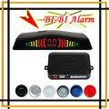 Auto Sensor de estacionamento LED 4 sensores reverso Radar Backup alerta sistema de alarme estacionamento assistência