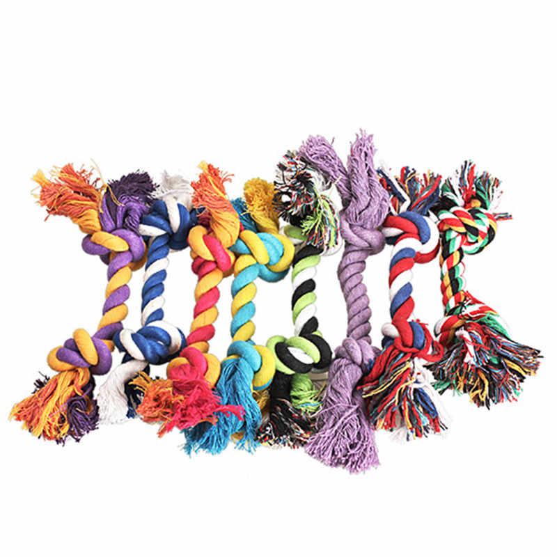1/2pc 17cm คุณภาพสูงสัตว์เลี้ยงสุนัขสวยตลกจำลองกระดูก Braided Rope Chew Knot ของเล่น