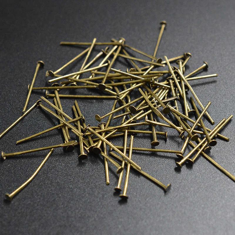 FLTMRH 50 шт. 26x0,7 мм глаз контакты головки T иглы для Бисер ювелирных изделий для изготовления браслет цепочки и ожерелья