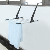 Thick stainless steel balcony racks, clothesline pole with a hook, towel hanging K1529