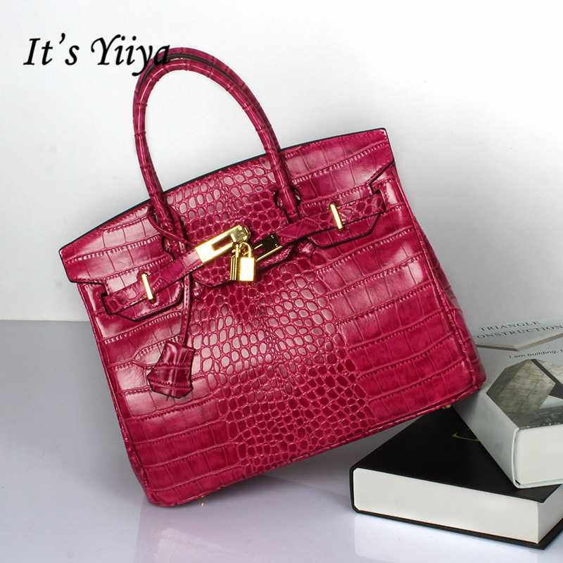 Free Shipping Europe New Fashion Genuine Cow Leather All matched Women Classical Aligator Shoulder and Handbags DDY005-2