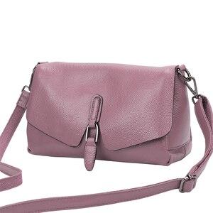 Image 3 - Сумка из натуральной кожи, новинка 2019, кожаная сумка мессенджер через плечо, женская модная переносная сумка из натуральной кожи первого слоя