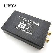 Lusya Hi Fi USB внешняя звуковая карта ES9018K2M DAC аудио декодер NE5532 + TL072 op усилители Поддержка 24bit 96 кГц A2 002