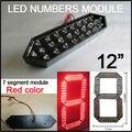 """12 """"Красный Цвет Digita Модуль Числа, открытый 7 Сегмент Модулей, высокая Яркость Светодиодных Чипов, светодиодный Экран, часы"""