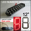 "12"" Red Color Digita Numbers Module,outdoor 7 Segment Of The Modules,high Brightness Led Chip,led Billboard,clock"