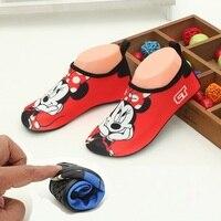 נוח אלסטי סתיו אביב ילדי גרבי בית קריקטורה נעלי תינוק נעליים עם גרביים תחתון גומי רך Sneaker