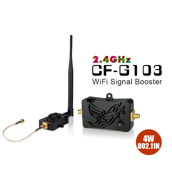 4W Wifi Wireless Broadband Amplifiers 2.4 Ghz 802.11n Power Amplifier Range Signa Booster for wifi Router Wifi Signal Repeater-in Modem-Router Combos from Computer & Office