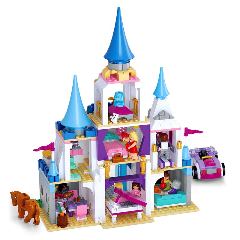 Enchanted Castle Building Blocks Sapphire Princess Castle Girl Friends Kids Legoings Model Toys Marvel Compatible