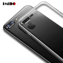 IMIDO Clear Silicon Soft TPU Ultra Thin Phone Case For iPhone XS MAX Transparent Cover XR 8 7 6 6S Plus SE Coque