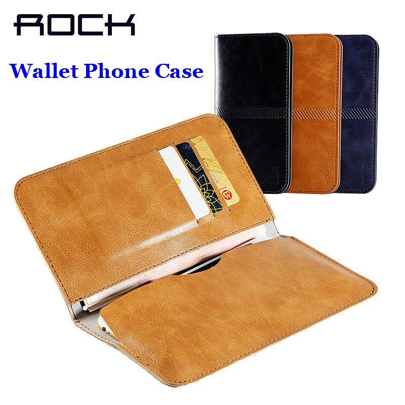 Цена за Рок Роскошный PU кожаный бумажник чехол для iPhone 7 6 Чехол карманный сумка чехол для 4.0 ~ 4.7 дюймов устройств На просвет Бесплатная доставка