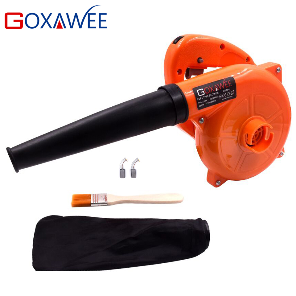GOXAWEE 220V 6 Speed Electric Air Blower Vacuum Blowing Dust Collector Hand leaf Blower 2 in 1 Fan Computer Cleaner 1.4m Cable