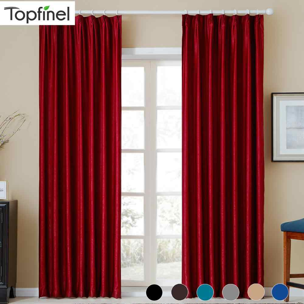 Plain Velvet Cotton Curtains for Living Room Bedroom Door Window Panel Blackout Curtain Drapes Burgundy Grey Black Coffee Brown