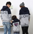 Family Matching Patchwork Hoodies Family Clothing Mother Daughter Father Son Clothes Parent-Child Clothing Family Style Set TM20