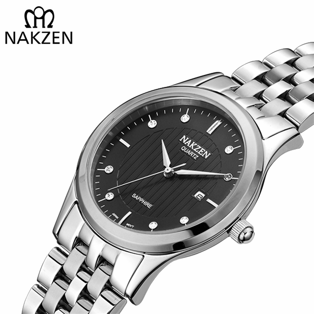 NAKZEN Ladies Quartz Wristwatches Classic Full Stainless Steel Small Dial Watches For Women Bracelet Luxury Watch Clock Female onlyou brand luxury fashion watches women men quartz watch high quality stainless steel wristwatches ladies dress watch 8892