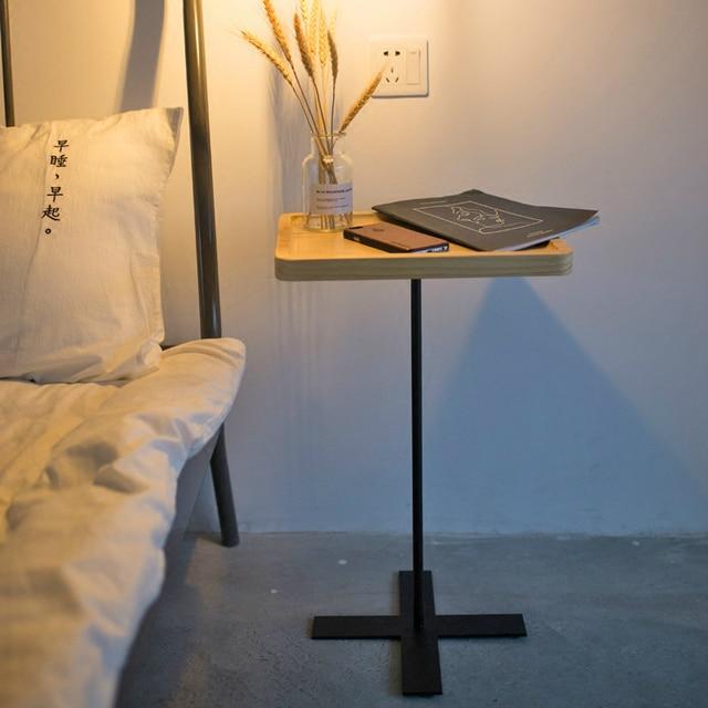 Mode Simple Trempé Verre Petite Table Basse Téléphone Rack Canapé