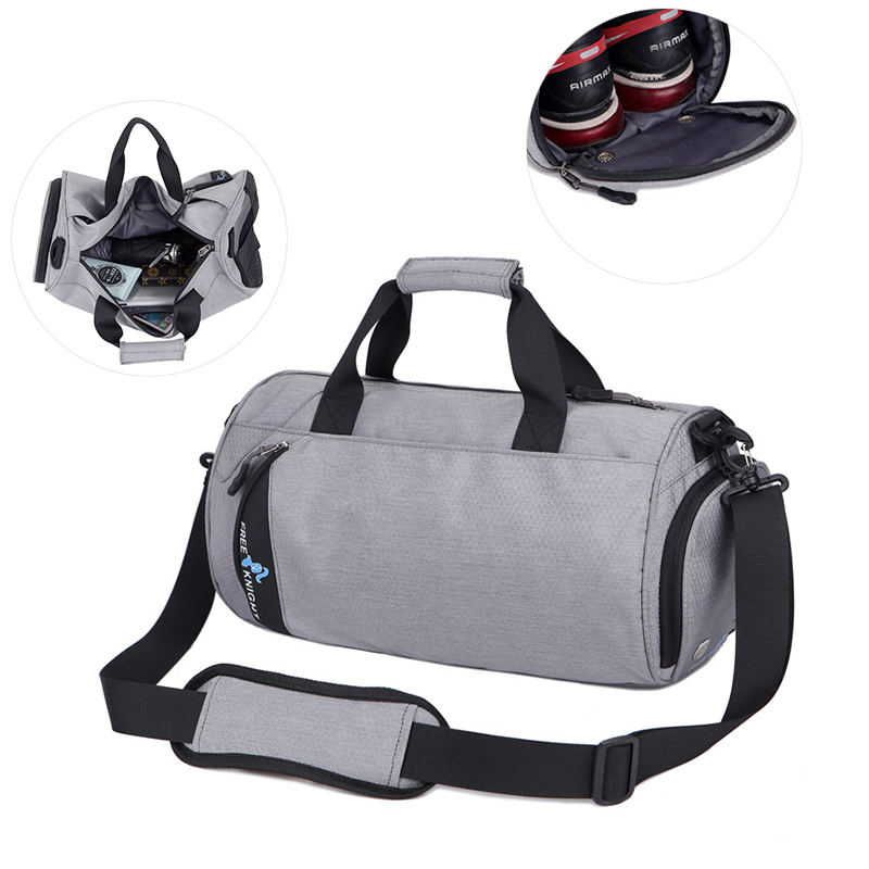 High Quality Waterproof Breathable Nylon Gym Bag Independent Shoe Storage Sport Bag For Men Outdoor Fitness Training Handbag
