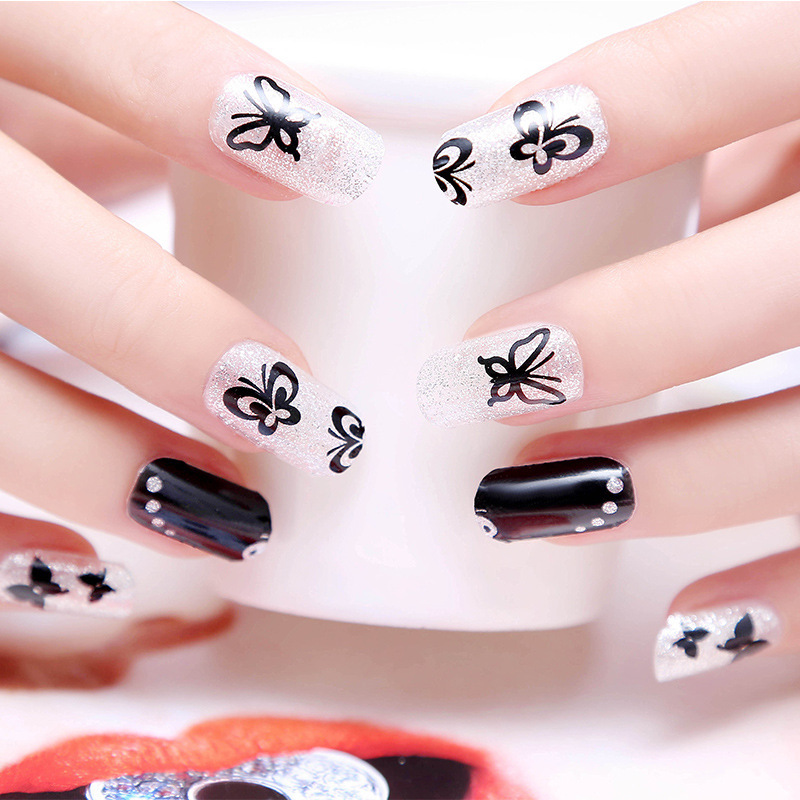 Full Nail Stickers 12PCS/1Sheet High End Top Quality Full Cover Nail ...